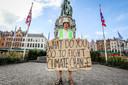Brugge Wouter Mouton voert op zijn eentje actie voor het klimaat