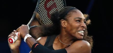 Serena Williams in Fed Cup tegen Nederland