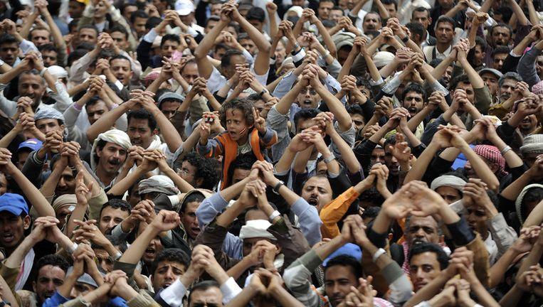 Protest in Sanaa Beeld ap