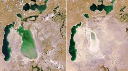 Stervend Aralmeer trekt steeds meer toeristen