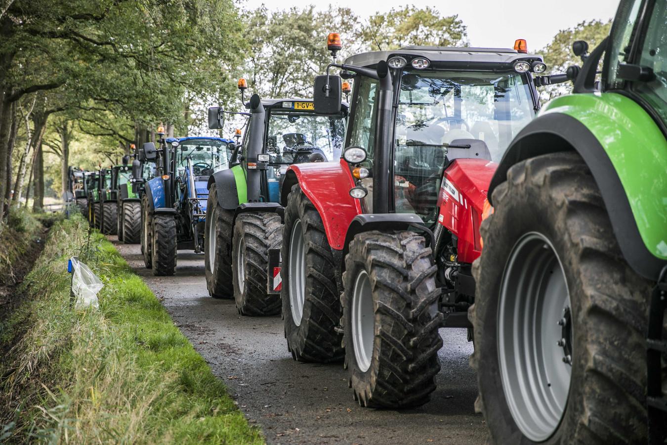 Boeren verzamelden zich donderdag in Winterswijk ook al tegen de nieuwe stikstofmaatregelen.
