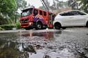 Straten in Rijen stroomden vol na fikse regenbui