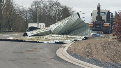 Storm vernielt twee daken in Oudenaarde