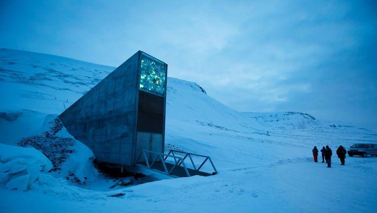 De ingang van de Svalbard Global Seed Vault (SGSV). Beeld epa
