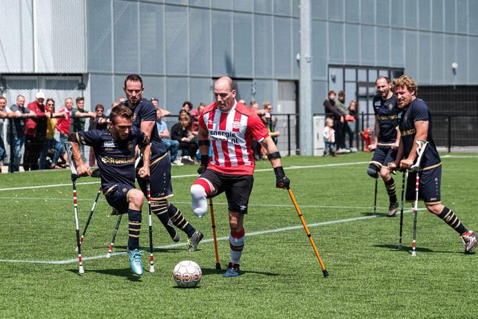 Amputee Football galawedstrijd tegen PSV op de Bosuil.