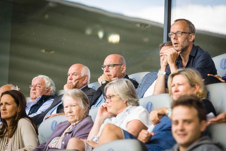 Vlnr.: AA Gent-voorzitter Ivan De Witte, burgemeester Daniël Termont, AA Gent- manager Michel Louwagie en Groen-schepen Filip Watteeuw.