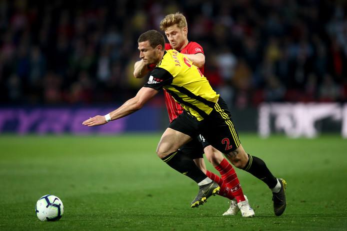 Daryl Janmaat staat met Watford op 18 mei in de FA Cup-finale tegen Manchester City. Winst betekent plaatsing voor de Europa League.