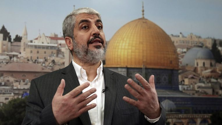 Hamasleider Khaled Meshaal Beeld reuters