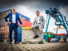 Tweede kraan voor containerterminal: 'Het is net een puzzel, al die containers'