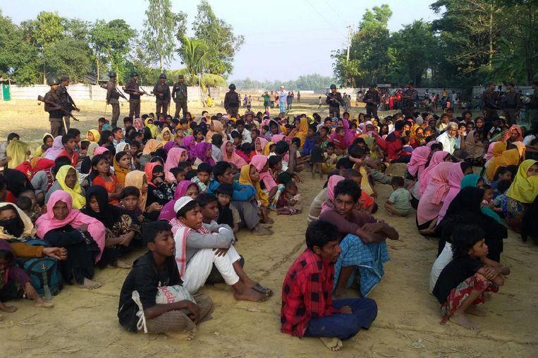 De Rohingya uit Myanmar in Bangladesh. Beeld AFP