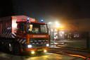 Door de inzet van veel materieel bleef de brand beperkt tot het bedrijf.