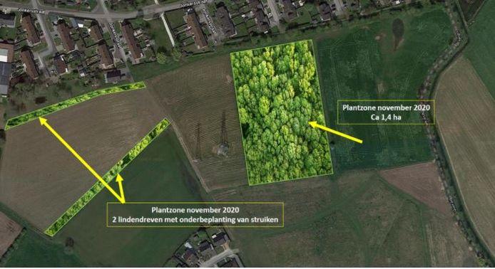 Hier wordt het Krommebeekbos uitgebreid.