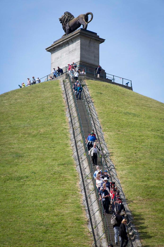 De Leeuw, het herdenkingsmonument van de Slag van Waterloo.