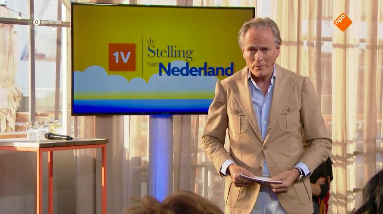 Jort Kelder bleef helder in een veel te vol uurtje 'De Stelling van Nederland'. Beeld Renate van der Bas