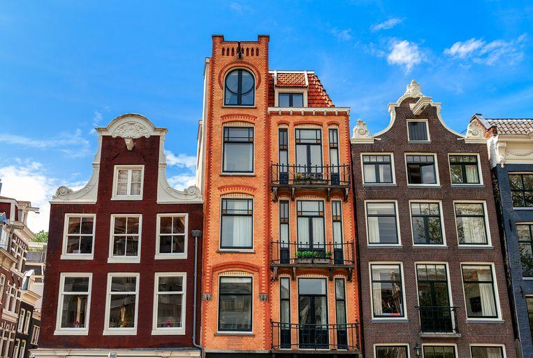 Huizen in Amsterdam. Beeld Shutterstock