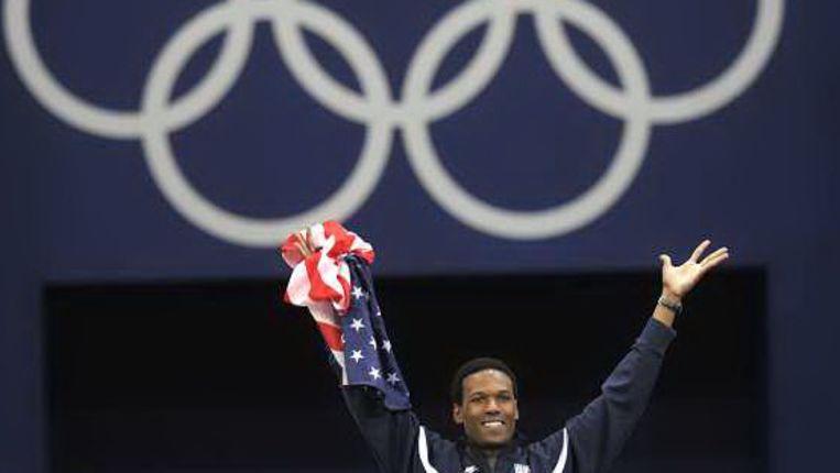 Shani Davis wint de 1000 meter (AFP) Beeld