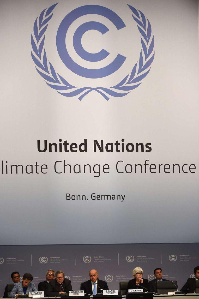 Klimaatconferentie in Bonn Beeld afp