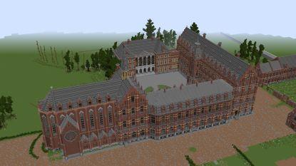 Alexander (15) profiteert van coronamaatregelen om indrukwekkende Minecraft-versie van kasteel van Mesen te bouwen