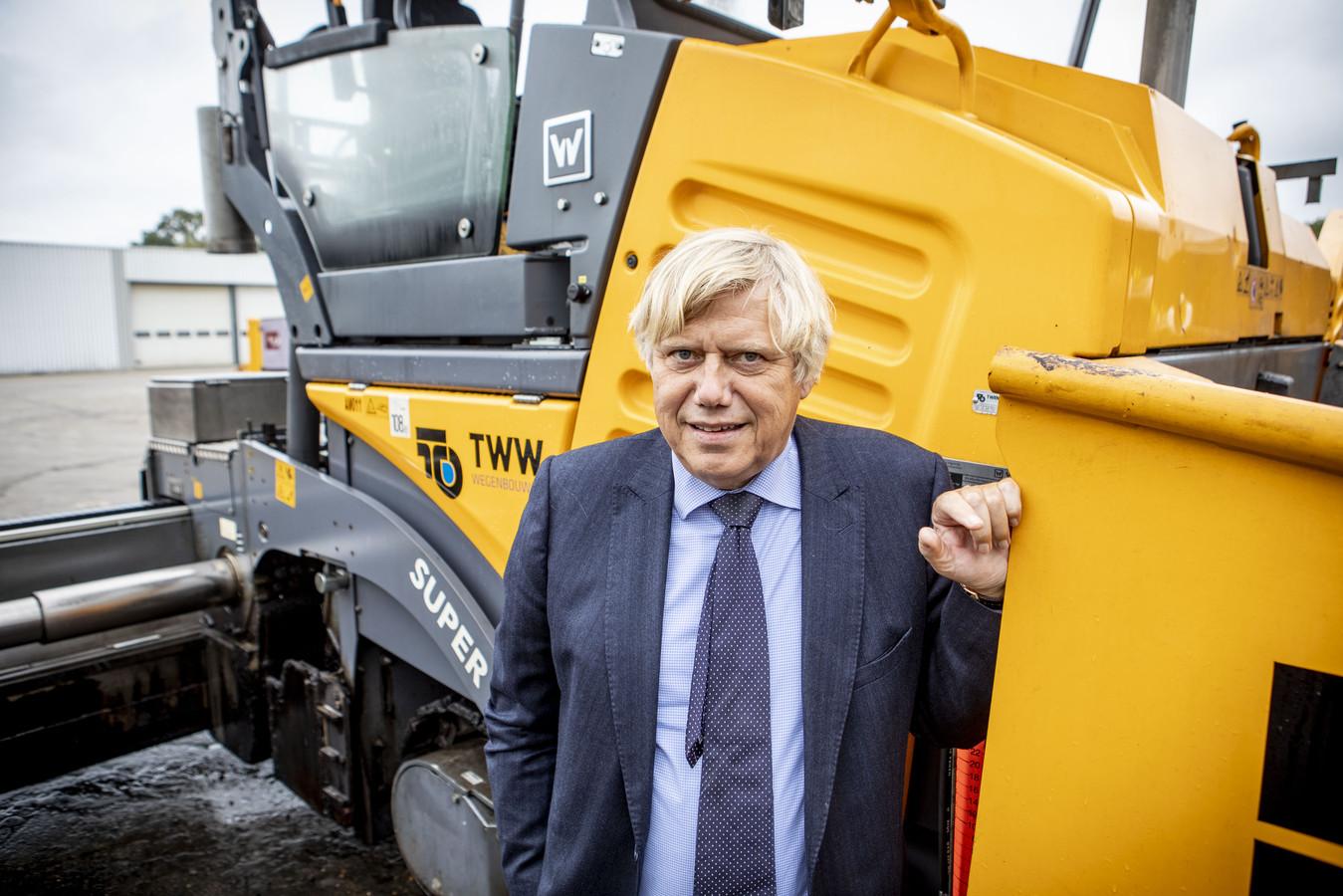 Herman Reinten zag de omzet van Reinteninfra in Oldenzaal vorig jaar stijgen met 65 procent, waarvan 23 miljoen autonoom werd gerealiseerd.