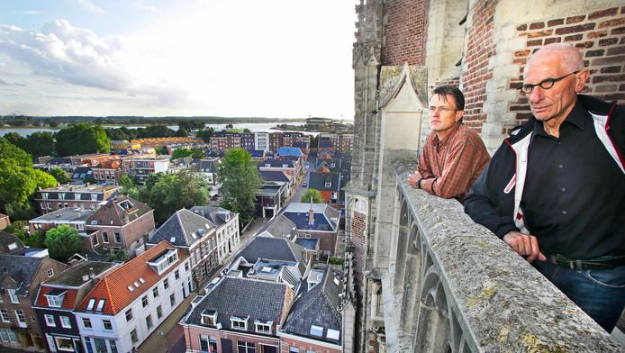 Dick Bos en Bas 't Hoen bezoeken Gorinchem.