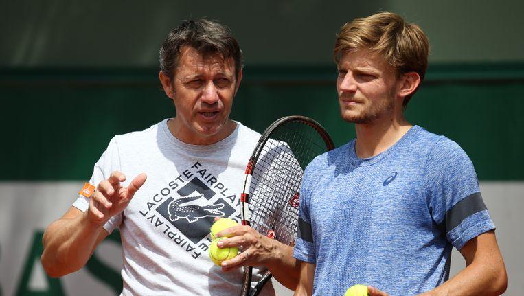 Thierry Van Cleemput naast David Goffin.