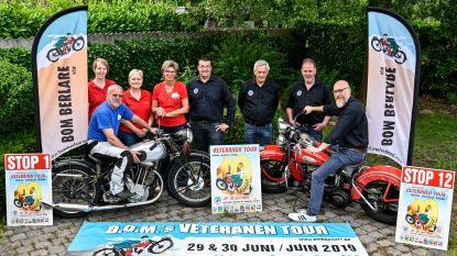 Tiende editie van veteranen tour met oldtimer motoren