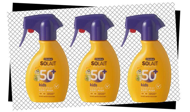 Kruidvat Solait Kids Sun Spray SPF 50+.