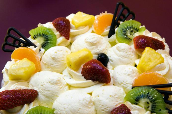 Deze taart is een andere dan die van bakker Dam.