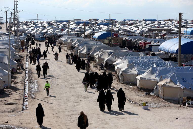 Vrouwen in Al Hol. Beeld Reuters