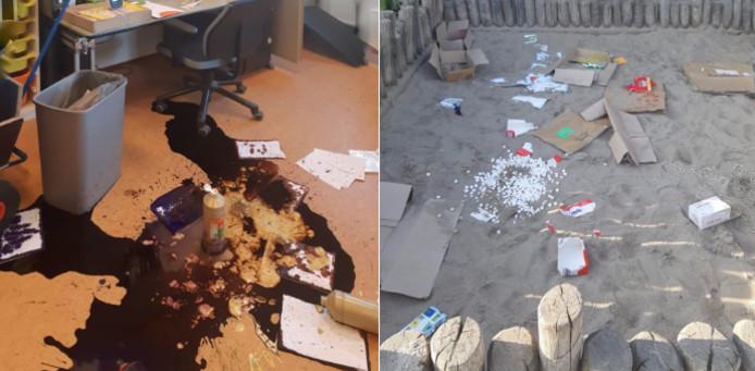 Op OBS Vleuterweide zijn vandalisten de school binnengedrongen en hebben een ravage aangericht.