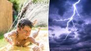 """Kwik klimt opnieuw tot tropische 36 graden: """"Lokaal kans op felle onweders met veel regen, rukwinden, hagel en risico op wateroverlast"""""""