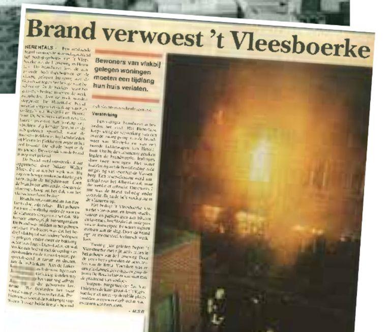 DIEPTEPUNT: 11 april 1996 | Het absolute dieptepunt van de zaak: de grote brand die het bedrijf volledig in as legde.