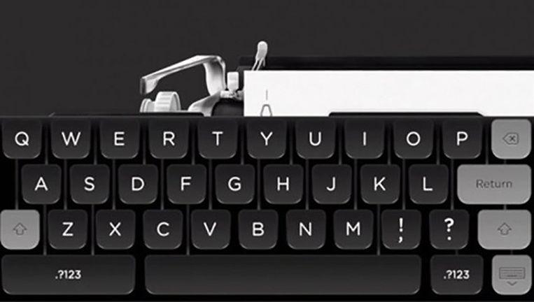 De typemachine-app van Tom Hanks Beeld Screenshot