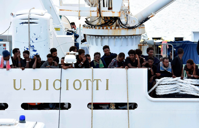 Het schip Diciotti.
