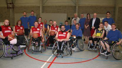 Basket Stabroek speelt partijtje rolstoelbasket tegen team van paralympiër Peter Genyn