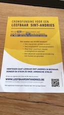De actiegroep deelde intussen zo'n 5.000 flyers uit in de omgeving.