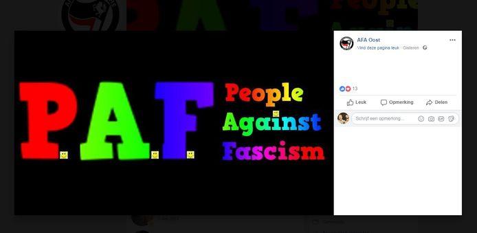 Screendump Facebook