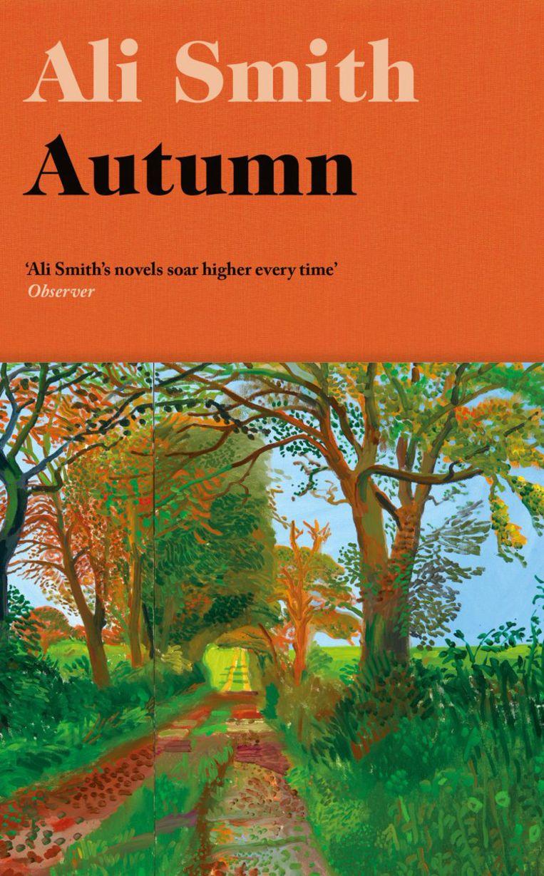 Ali Smith: Autumn. Omslag David Hockney, Richard Bravery, 2016. Beeld Penguin/Hamish Hamilton