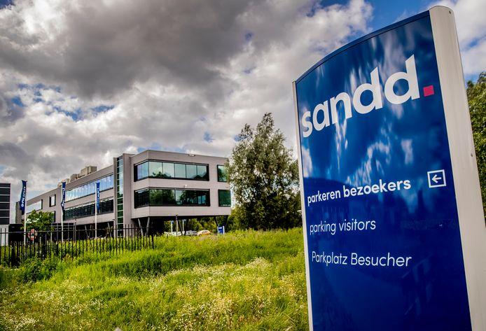 Hoofdvestiging van Sandd in Apeldoorn. Onduidelijk is wat daarmee gebeurt nu PostNL en Sandd gaan fuseren.