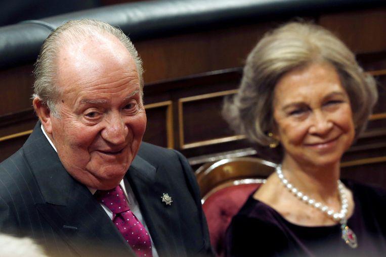 Koning Juan Carlos en zijn vrouw koningin Sofia