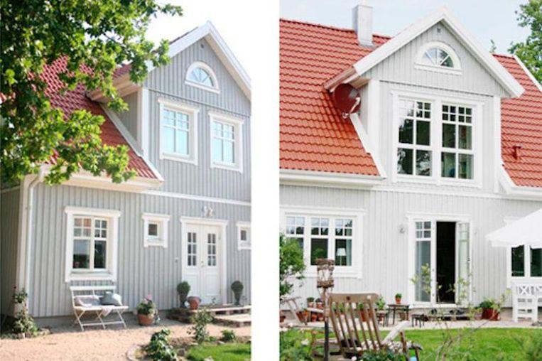 Een impressie van de Zweedse villa's die in het mini-dorp komen. Beeld Kvist