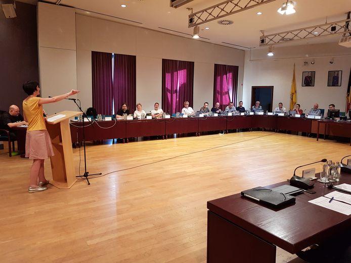 Bewoners van de wijk Nederhem namen het woord tijdens de eerste interpellatiezitting voor de Halse gemeenteraad.