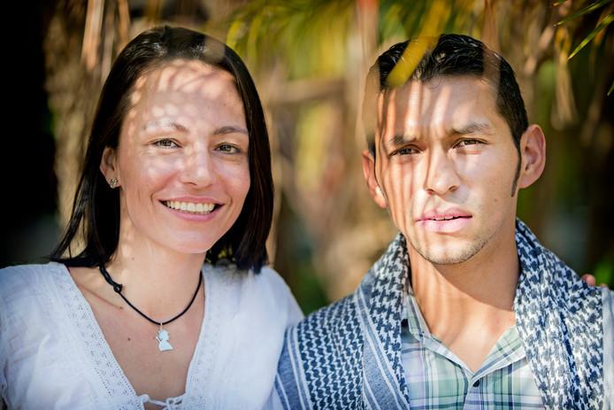Tanja Nijmeijer en haar vriend Boris Guevara.
