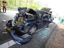 A58 bij Best weer open na ongeval met meerdere auto's
