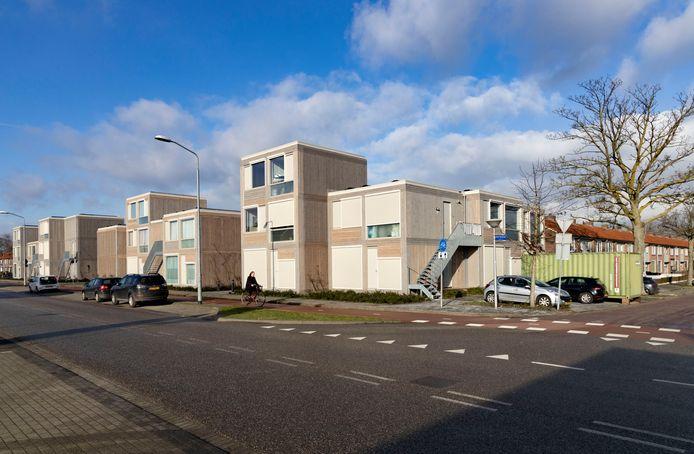 tijdelijke woningen *Trudo* aan de Quinten Matsyslaan in Eindhoven