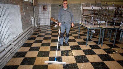 Lek zet refter Sint-Gertrudisbasisschool onder water