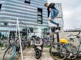 Freerunpark op Jaarbeursplein staat vol met illegaal geparkeerde fietsen