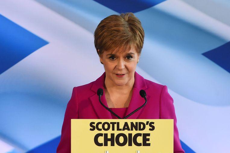 De Schotse eerste minister Nicola Sturgeon.