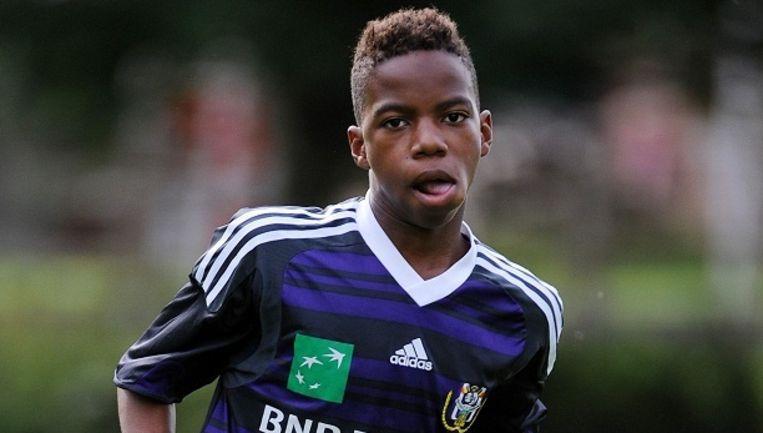 Charly Musonda jr. drie jaar geleden bij de jeugd van Anderlecht.