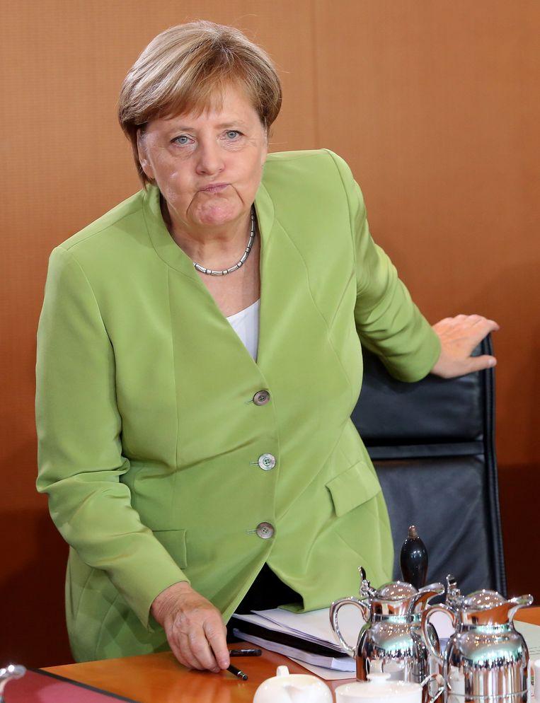 Angela Merkel Beeld Getty Images